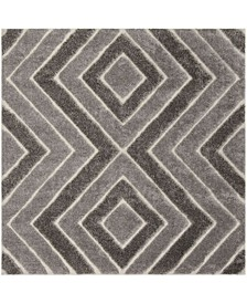 """Memphis Taupe and Gray 6'7"""" x 6'7"""" Square Area Rug"""