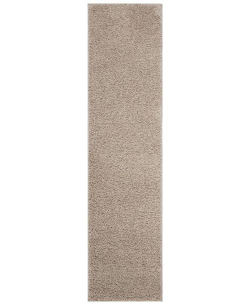 Safavieh New York Shag Light Grey 2' X 8' Runner Area Rug