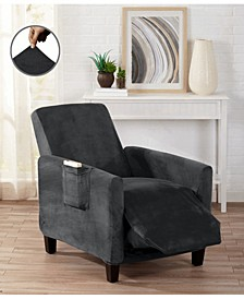 Velvet Plush Solid Form Fit Stretch Slipcover Collection
