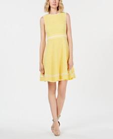 Calvin Klein Eyelet A-Line Dress