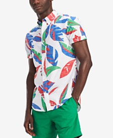Tommy Hilfiger Men's Big & Tall Tropical Shirt, Created for Macy's