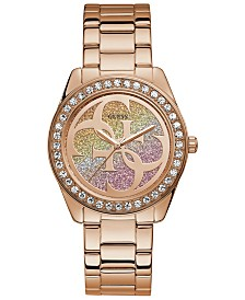 GUESS Women's G Twist Rose Gold-Tone Stainless Steel Bracelet Watch 40mm