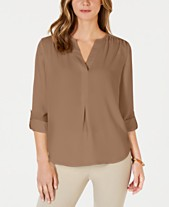 2da9342d31613d Charter Club Split-Neck Blouse, Created for Macy's