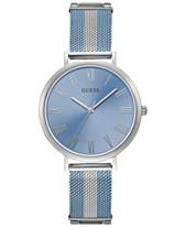 7068cee97be GUESS Women s Lenox Two-Tone Stainless Steel Mesh Bracelet Watch 38mm