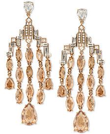 Jenny Packham Multi-Crystal Art Deco Chandelier Earrings
