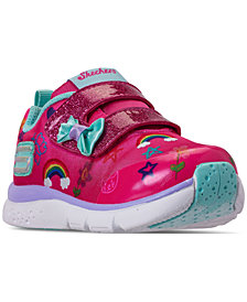 Skechers Toddler Girls' Jumplites Athletic Casual Sneakers from Finish Line