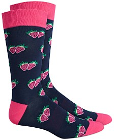 Bar III Men's Strawberry Socks, Created for Macy's