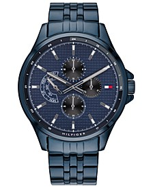Men's  Blue Stainless Steel Bracelet Watch 44mm  Created For Macy's