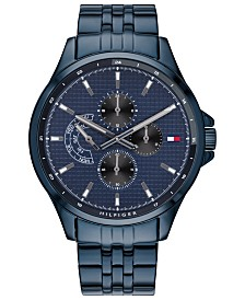 Tommy Hilfiger Men's  Blue Stainless Steel Bracelet Watch 44mm  Created For Macy's
