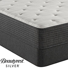 "Beautyrest Silver BRS900-TSS 12"" Plush Mattress Set - Queen with Adjustable Base, Created For Macy's"