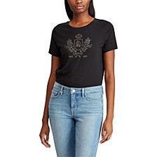 Lauren Ralph Lauren Petite Logo Graphic T-Shirt