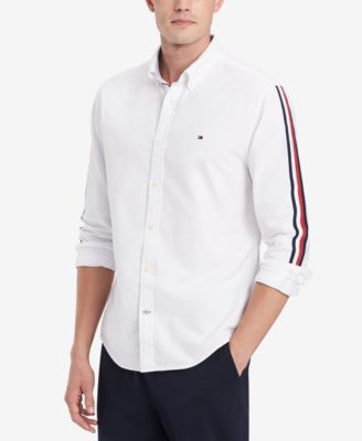 Tommy Hilfiger Tommy Hilfiger Men's Side Stripe Oxford Shirt, Created for Macy's from Macys | more