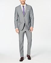 164198b521 Perry Ellis Men s Slim-Fit Stretch Wrinkle-Resistant Solid Textured Suit