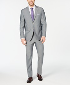 Perry Ellis Men's Slim-Fit Stretch Wrinkle-Resistant Solid Textured Suit