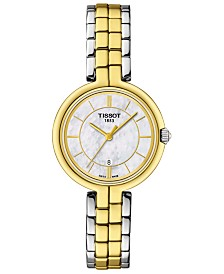 Tissot Women's Swiss T-Lady Flamingo Two-Tone PVD Stainless Steel Bracelet Watch 30mm
