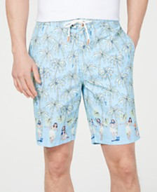 "Tommy Bahama Men's Palm-Tree Graphic 9"" Board Shorts"