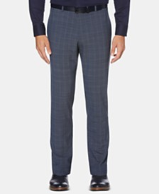 Perry Ellis Men's Slim-Fit Performance Stretch Plaid Pants