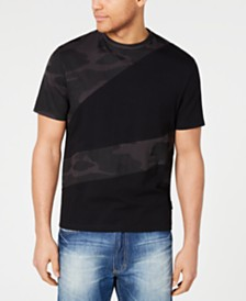 Sean John Men's Colorblocked Camo T-Shirt