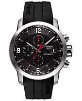 2985e6ba138 Tissot Men s Swiss Automatic Chronograph T-Sport PRC 200 Black Silicone  Strap Watch 43mm