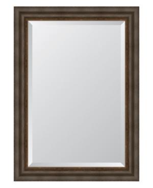Dark Bronze with Gold Lip Framed Mirror - 31.25