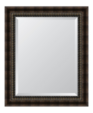 Black and Bronze Acid Wash Framed Mirror - 29.5