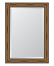 """Brown with Dark Edges Framed Mirror - 30.5"""" x 42.5"""" x 2"""""""