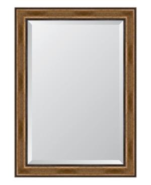 Brown with Dark Edges Framed Mirror - 30.5