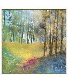 "Field of Gold Framed Canvas Wall Art - 39"" x 39"" x 2"""