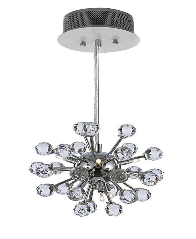 Harrison Lane Modern 6-Light Chrome Pendant with Crystal Balls