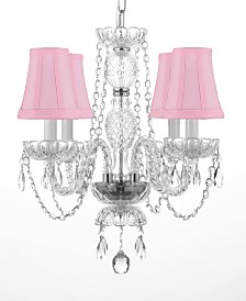 Venetian Style Empress 4-Light Crystal Chandelier with Shades
