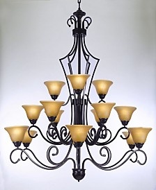 Versailles 15-Light Iron Chandelier