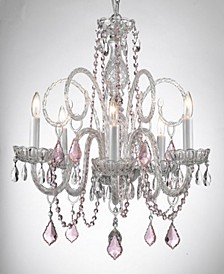 Empress 5-Light Crystal Chandelier with Crystal Pendant