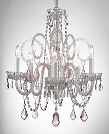 Empress 5-Light Crystal Chandelier with Crystal Pendant