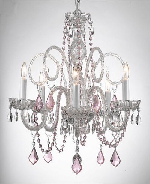Harrison Lane Empress 5-Light Crystal Chandelier with Crystal Pendant
