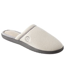 Isotoner Women's Waffle Knit Slip-On Clog Slipper for Indoor/Outdoor Comfort and Arch Support