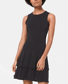MICHAEL Michael Kors Ruffle-Hem Tank Dress, in Regular & Petite Sizes