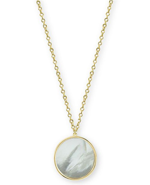 60c98b77b1e Argento Vivo Mother-of-Pearl Disc Pendant Necklace in Gold-Plated Sterling  Silver ...