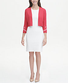 Tommy Hilfiger Embroidered Shrug with Bell Sleeves