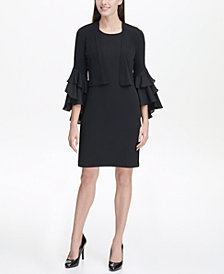Tommy Hilfiger Jersey Shrug with Ruffled Bell Sleeves