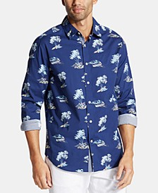 Men's Big & Tall Palm-Tree Graphic Shirt