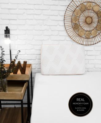 Copper Memory Foam Pillow with Built-In iCOOL Technology System, Created for Macy's