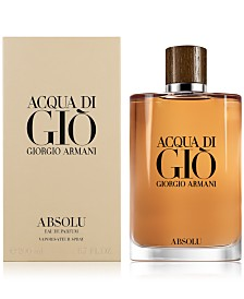 Giorgio Armani Men's Acqua di Giò Absolu Eau de Parfum Spray, 6.7-oz.