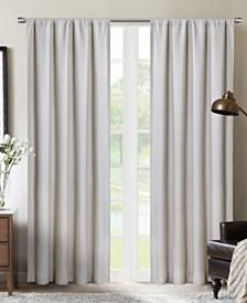 "Silk+Home Light Filtering Rod Pocket Single Curtain Panel 52""x84"""