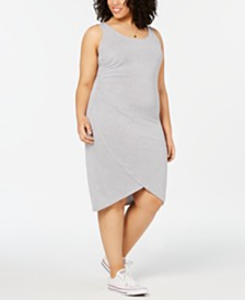 Planet Gold  Trendy Plus Size Ruched Dress