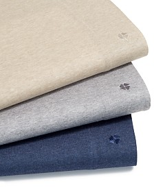 Lucky Brand Jersey 4-Pc. Sheet Sets, Created for Macy's