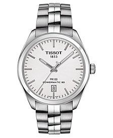 Tissot Men's Swiss Automatic T-Classic PR 100 Stainless Steel Bracelet Watch 39mm