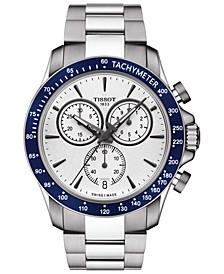 Men's Swiss Chronograph T-Sport V8 Stainless Steel Bracelet Watch 42.5mm