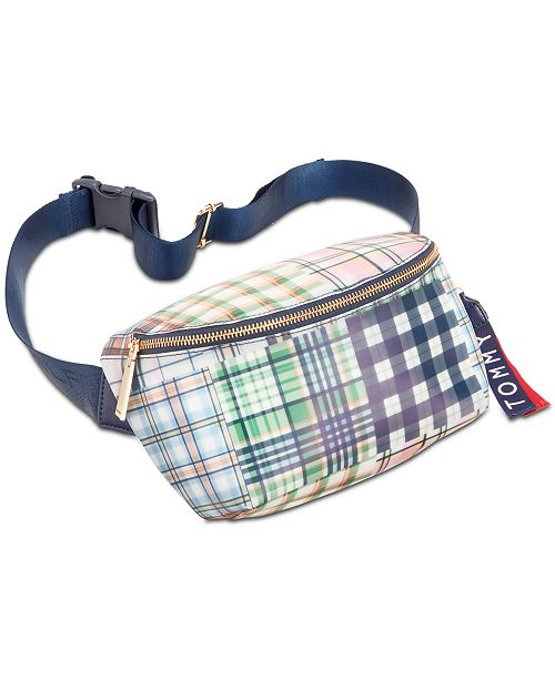 Tommy Hilfiger Kala Plaid Convertible Belt Bag