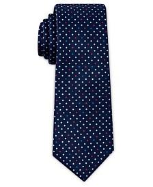 Tallia Men's Polka Dot Print Slim Tie