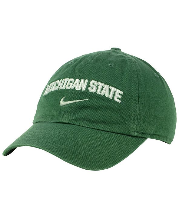 Nike Michigan State Spartans H86 Wordmark Swoosh Cap